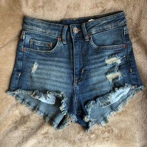 H&M cut off shorts size 0